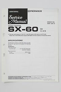 Pioneer sx 60 original stereo receiver additional service manual image is loading pioneer sx 60 original stereo receiver additional service asfbconference2016 Choice Image