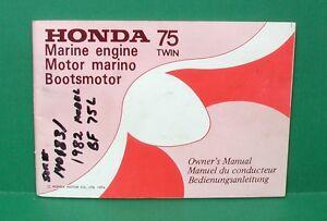 original 1976 honda 75 twin 7 5 hp 4 stroke outboard motor owner s rh ebay com Honda Outboard Model Year Chart 7.5 Honda 4 Stroke Outboard