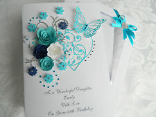 Handmade Personalised Birthday Card Mothers Day Anniversary Any Age Gift Box