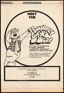 HERE-039-S-HUMPHREY-B-BEAR-Original-1978-Trade-print-AD-TV-promo-poster-advert