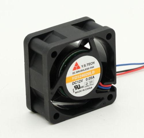 For Y.S.TECH FD124020LB 4020 4cm 40mm DC 12V0.05A ultra-quiet Silent cooling fan