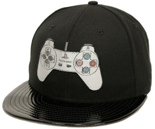 New Era 59Fifty Playstation Controller Black Fitted Cap Sony PS PS4 Gamer Hat