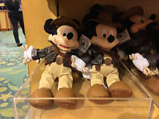 """disney parks 9"""" mickey mouse as indiana jones plush toy new with tag"""