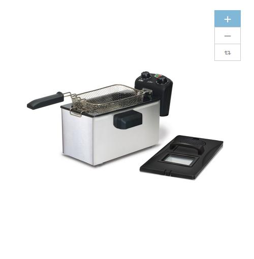 NEUF Elite 3.5 QT quart Indoor électrique Friteuse Cuisine en Acier Inoxydable