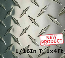 Aluminum Polished Diamond Plate 12 Wide X 48 Long X 116 Thick Alloy 3003 New