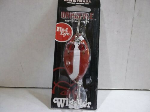 Dare Devil Dardevle Wiggler 1//2 ounce red and white with nickel back NIP