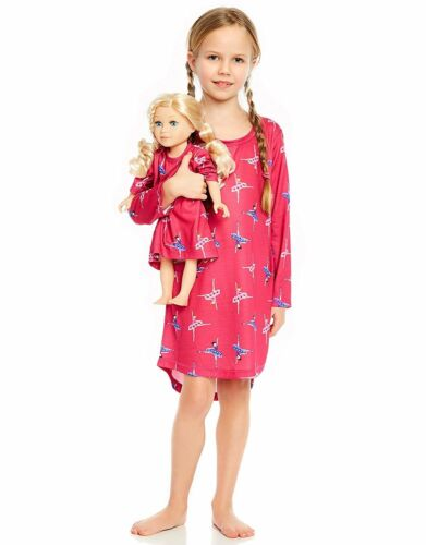 Size 4 Toddler - 14Y Leveret Ballerina Matching Doll /& Girl Sleep Nightgown