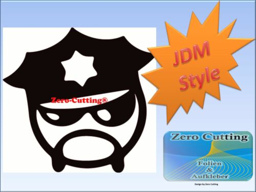 JDM cooler Cop Smile Aufkleber Tuning Fun Sticker Decals DUB OEM Shocker Auto