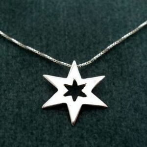 925 sterling silver star pendant charm necklace chain womens image is loading 925 sterling silver star pendant charm necklace chain aloadofball Image collections