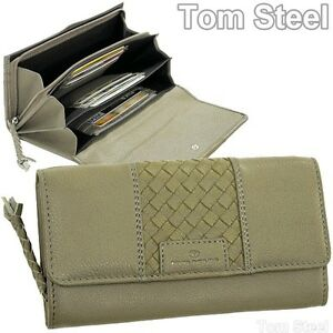 d6f1ad90d4830 Das Bild wird geladen Damen-Portemonnaie-grosse-Brieftasche-TOM-TAILOR -Leder-Geldboerse-