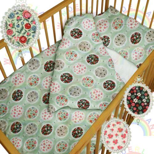 Bébé Ensemble de literie lit bébé vintage fleurs Couette pare-chocs couffin Drap Fille