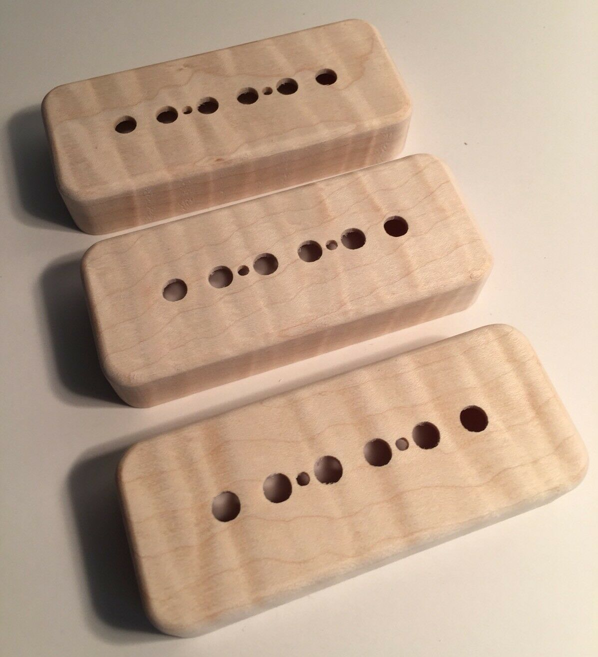Guilford Flame Maple P-90 Pickup Covers -Set Of 3 -Seymour Duncan  PRS - USA