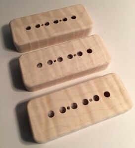 With Holes Guilford Flame Maple Humbucker Covers Set of 2 USA