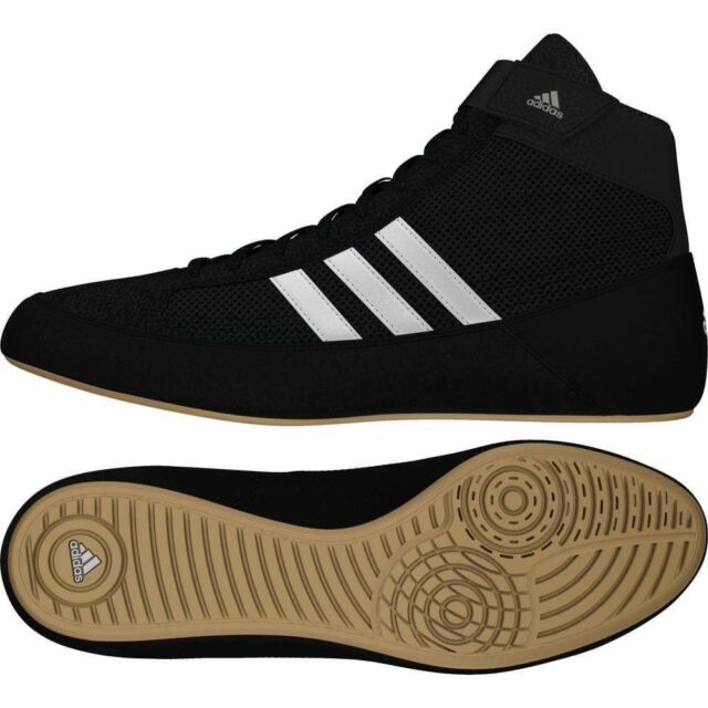 Adidas Havoc Wrestling Boots Adult Kids Black Boxing Boots Gym Training Shoes