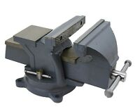 8 Heavy Duty Bench Vise Clamp Tabletop Swivel Locking Steel Base Anvil Locking on sale