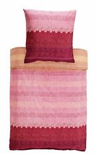 Bassetti Mako Satin Bettwäsche Appiani V9 pink orange 155x220 Baumwolle