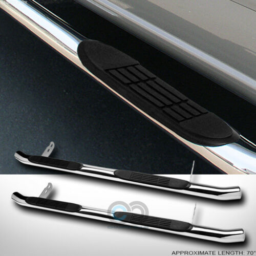 """3/"""" Chrome Side Step Nerf Bars Rail Running Board HD For 04-09 Rx330//RX350//RX400h"""