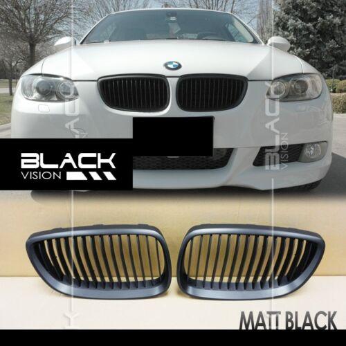 Matte Black 11 Strokes Front Mesh Grille for BMW E92 E93 Pre-facelift 2006-2009