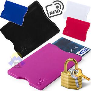 Porta-CARTE-di-CREDITO-Sicurezza-RFID-Blocco-WIRELESS-Bancomat-SAFE-Contactless