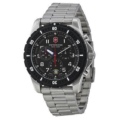 Victorinox Swiss Army Maverick Sport Chronograph Black Dial Stainless Steel Mens