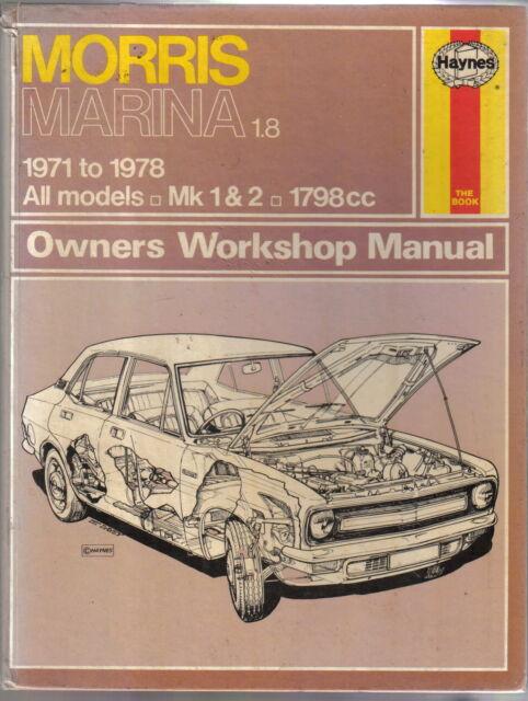 Morris Marina 1.8 1971-1978 All Mk 1 & 2 1798cc Haynes Owners Workshop Manual