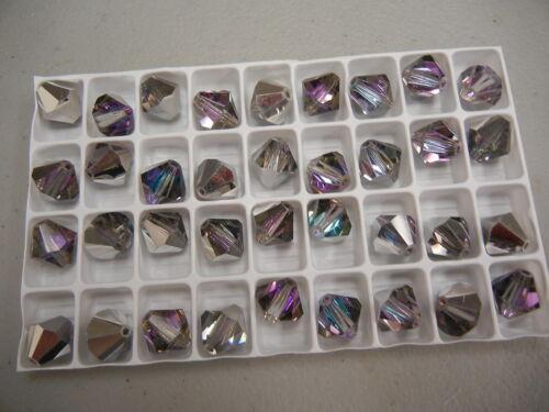 full box,72 new preciosa bicone crystal beads,12mm vitrail light