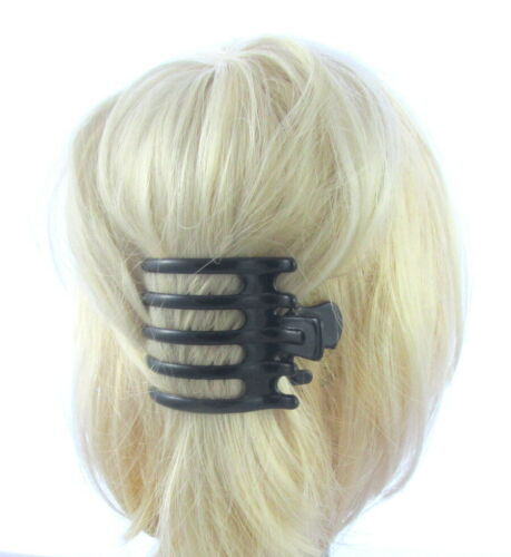 Set of 2 BROWN//BLACK  claw clamp comb 6,5cm Hair Claw Clip Clamp Grip UK Size