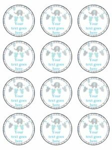 24 BABY SHOWER BOY CUPCAKE TOPPERS PREMIUM WAFER PAPER OR ICING SHEET BSB03 Home, Furniture & DIY Cake Toppers