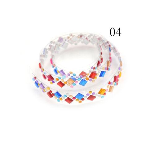 Crystal Diamond Stickers Tape Craft Scrapbook Album Photo Frame Decor Transparen