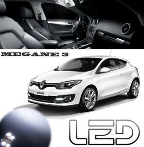 MEGANE-3-III-pack-16-ampoules-LED-Blanc-Veilleuses-Plaque-Habitacle-Plafonnier