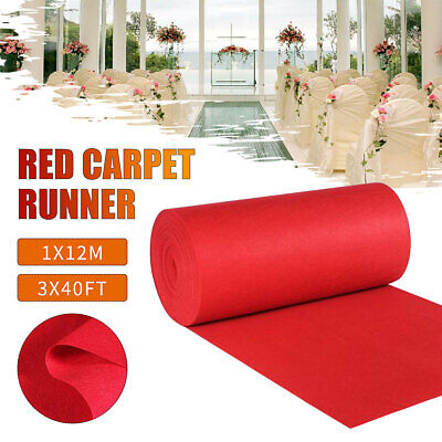 40ft VIP Large Red Carpet Runner Hollywood Party Decoration Wedding Aisle