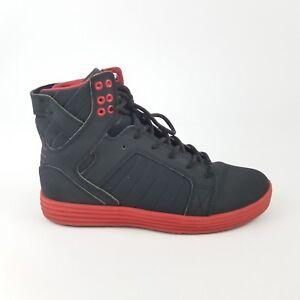 5791f147189 Supra Skytop Lite Satellite Black Red Chad Muska Mens Sz 8.5 Skate ...