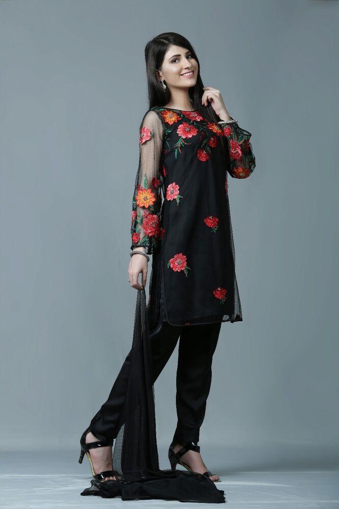 Actif Eid Pakistani Designer Cousu 4 Pièce Costume (shirt, Pantalon, Dupatta) Taille 10-20-, Dupatta) Size 10-20 Fr-fr PréVenir Et GuéRir Les Maladies