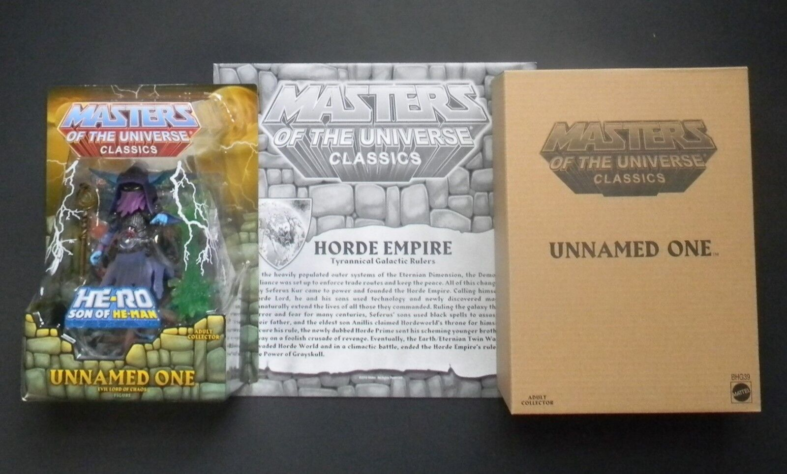 Mattel Masters of the Universe Classics MOTUC Unnamed One with Horde Map New