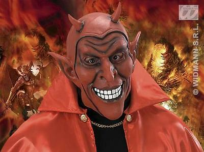 Rubber Red Devil Mask Demon Monster Halloween Fancy Dress