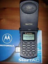 MOTOROLA STARTAC 130 GSM DUAL BAND ESEMPLARE UNICO ORIGINALE +BATTERIA ORIGINALE