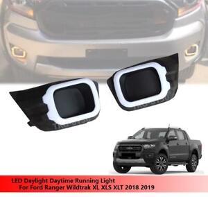 2X LED Daytime Running Light  DRL W// Turn For Ford Ranger XL XLS XLT 2018 2019