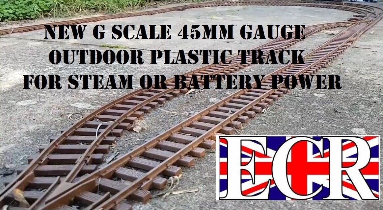 Giardino G Scala 45mm Calibro Rail Plastica Ferrovia Pista Layout Layout Layout Batteria fc61a0