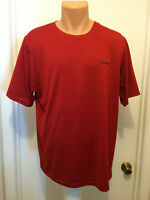 Reebok Play Dry Red Athletic Shirt Men`s L Short Sleeves 100% Polyester