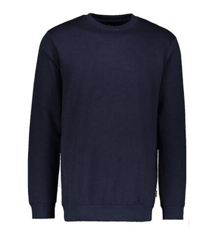 Mens Basic Longline Sweater Mens Plain Long Sweatshirt Top Sweat Casual Fleece