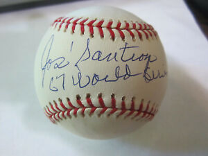 Jose-Santiago-Autograph-Signed-Baseball-Boston-Red-Sox-67-World-Series