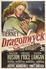 DRAGONWYCK Movie POSTER 27x40 Gene Tierney Walter Huston Vincent Price Glenn