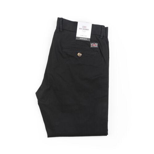 Black Nero 0047814 Chino Tessuto Pantaloni stretch slim fit Ben Sherman NUOVO