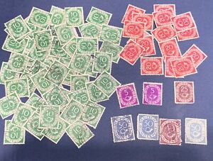 GERMANY 1950's LOT OF 75 POSTHORN STAMPS, INVESTOR LOT
