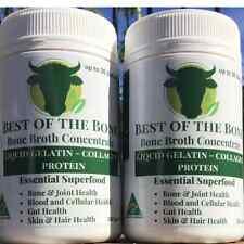 Bone Broth Gelatin:grass-fed COLLAGEN PROTEIN  2 PACK (350 grams)