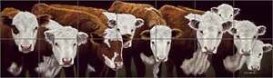 Ceramic-Tile-Mural-Backsplash-Ryan-Western-Steer-Cattle-Animal-Art-EWH-LMR015
