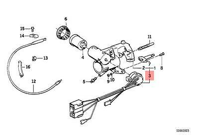 Genuine BMW E32 E34 Sedan Ignition Lock Switch OEM 61321384847