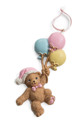 Details about  /Christmas Baby Bears with Balloons Christmas Ornament 2 different colors