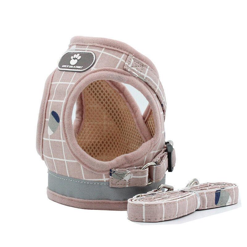 2019 New Reflective Comfort and Control Dog Cat Small Medium Harness Leash Set 11
