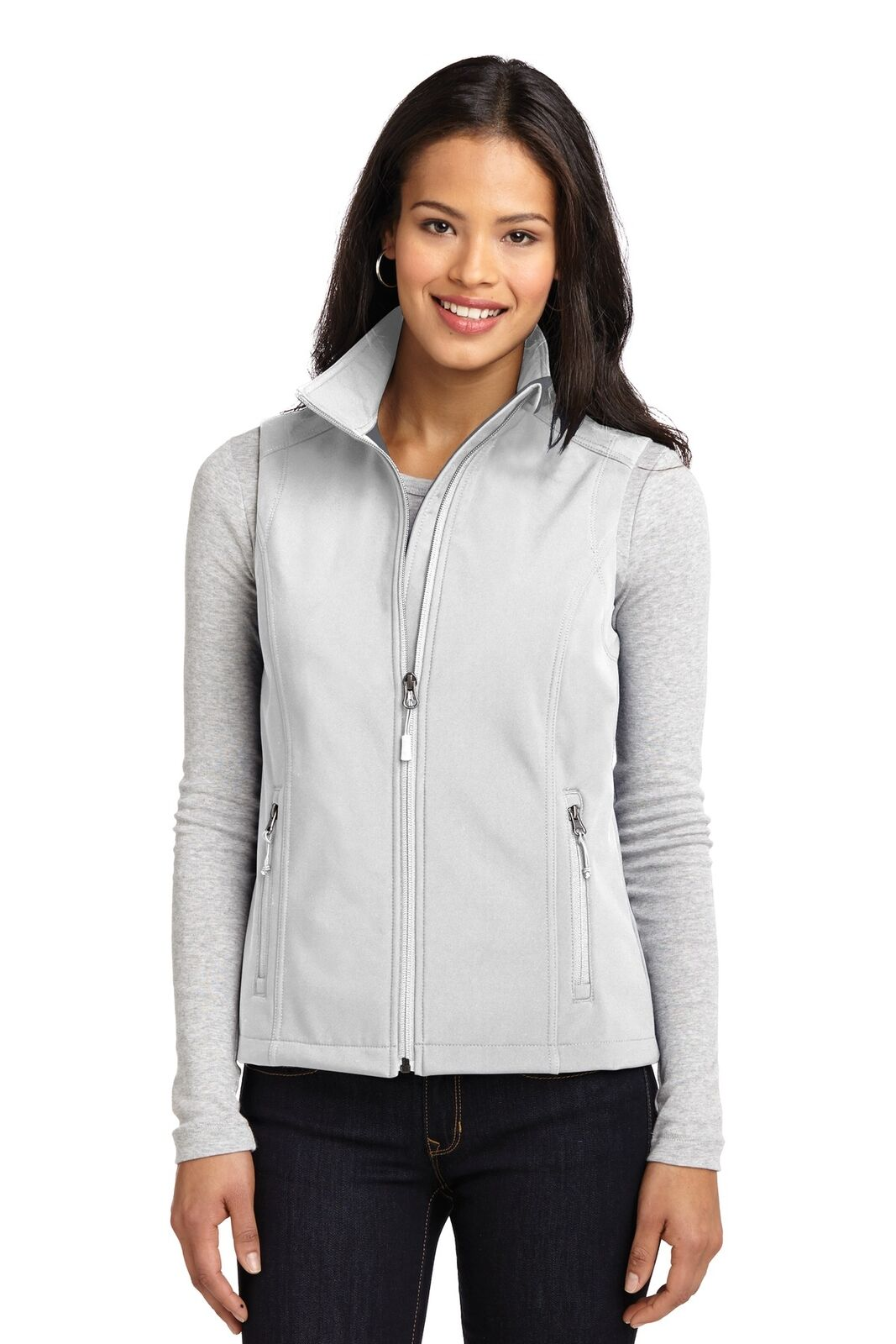 Port Authority Women's Long Sleeve Core Soft Shell Vest - L325 FREE SHIPPING